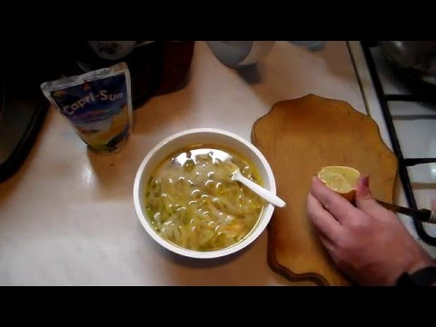 Суп лапша на говяжьем бульоне