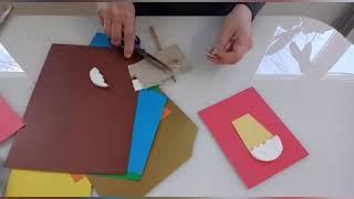 Пасхальная открытка для детей 4-5 лет