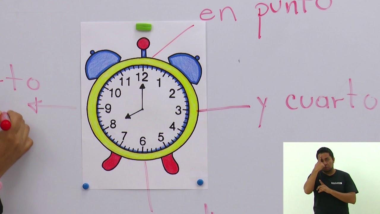 Primaria 1º Y 2º Clase 168 Tema El Uso Del Reloj Youtube