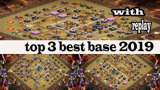 clash of clans,TH 12 war base 2019, with replays