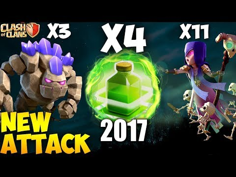 4 JUMP SPELL +  11 WITCH: WITCH SLAM NEW TH9 STRONG WAR ATTACK STRATEGY 2017 | Clash Of Clans