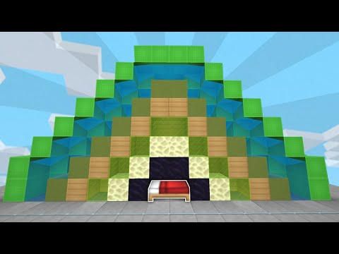Using EVERY Block As A Bed Defense In Minecraft Bedwars