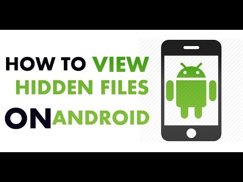 how to see hidden files in android by applock or audio manager