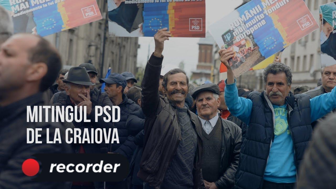 Reportaj Recorder la mitingul PSD de la Craiova: cât de puternic e un partid care se prăbușește