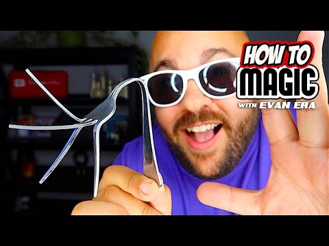 10 Magic Tricks with Silverware: Magic Tricks!  In this episode of How To Magic, Evan Era from EvanEraTV shows Magic Tricks with Spoons and Forks!  Easy silverware magic tricks for kids, beginners, and all ages!  Family friendly fun magic trick tutorials with step by step instructions for each trick explanation!  Learn to bend a metal spoon or magically make a ring link onto a fork!  All secrets revealed!  If you're new to the channel remember to hit that SUBSCRIBE button and welcome to the family!  Until next time, remember that anything is possible as long as you stay positive, work hard, and Laugh@Life my friends! :)  SUBSCRIBE - http://bit.ly/SubToEvan MY VLOGS - http://bit.ly/EvanVlogs  SEND MAIL TO: PO BOX 943 Crestwood KY 40014  SHOP HERE - http://www.EvanEraTV.com  EMAIL: EvanEraTV@Gmail.com SNAPCHAT: http://bit.ly/SnapchatEvan TWITTER: http://www.twitter.com/EvnEra FACEBOOK: http://www.facebook.com/EvanEraTV INSTAGRAM: http://www.instagram.com/EvanRosenman  Magic Silverware Tricks Revealed in this Video: 1.) Fork and Knife Switch Napkin Magic Trick - 0:50 2.) Magic Sad Crying Spoon Trick Revealed - 2:34 3.) Impromptu Magic Spoon Bend Trick Revealed - 4:51 4.) Balancing Spoon on Nose Magic Challenge - 6:33 5.) Crazy Fork in the Eye Magic Creamer Prank - 7:21 6.) Metal Fork Tine Bending Trick Explanation - 8:37 7.) Telekinetic Moving Fork Magic Trick Revealed - 10:45 8.) Fork Bent and Restored with Coin Trick - 12:25 9.) Impossible Magic Ring Linking on Fork - 13:43 10.) Magic Bending Plastic Spoon Trick Revealed - 15:06  GOOD LUCK in the FREE MAGIC SPOON GIVEAWAY!!  More Magic Tricks Here: http://bit.ly/2mkEIjo  #EvanEra #EvanEraTV #HowToMagic #eraSQUAD #LaughAtLife L@L  This channel provides awesome content in the form of magic, pranks, and other cool videos - SUBSCRIBE for weekly uploads!! :)  More Videos Here: http://www.youtube.com/EvanEraTV