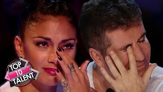 TOP 10 EMOTIONAL Singing Auditions That Made Judges Cry On Got Talent, X Factor And Idol!