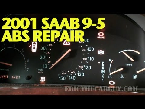Solving 2001 Saab 9-5 ABS/TCS/CEL Problem -EricTheCarGuy - YouTube