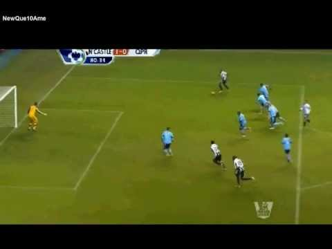 shola ameobi goal vs queens park rangers [premier league 22/12/12]