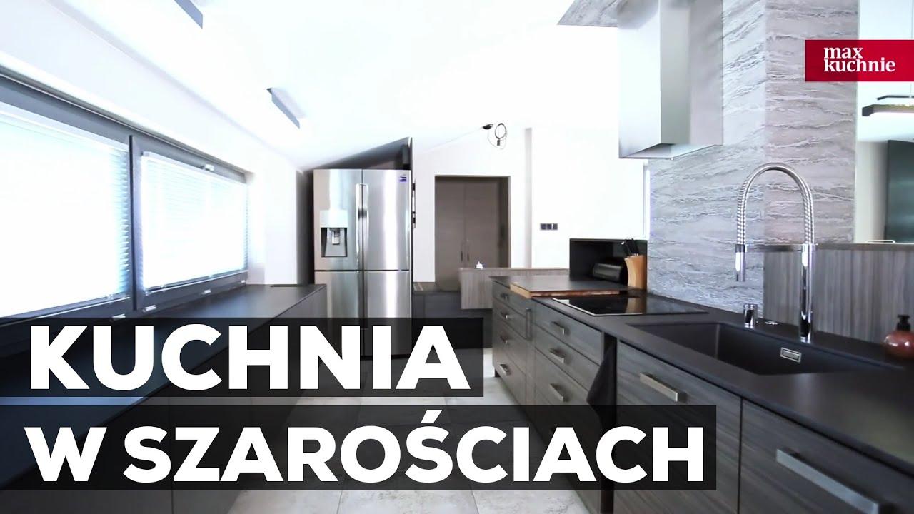 Kuchnia W Szarościach Studio Max Kuchnie Kuchnie Marzeń łódź