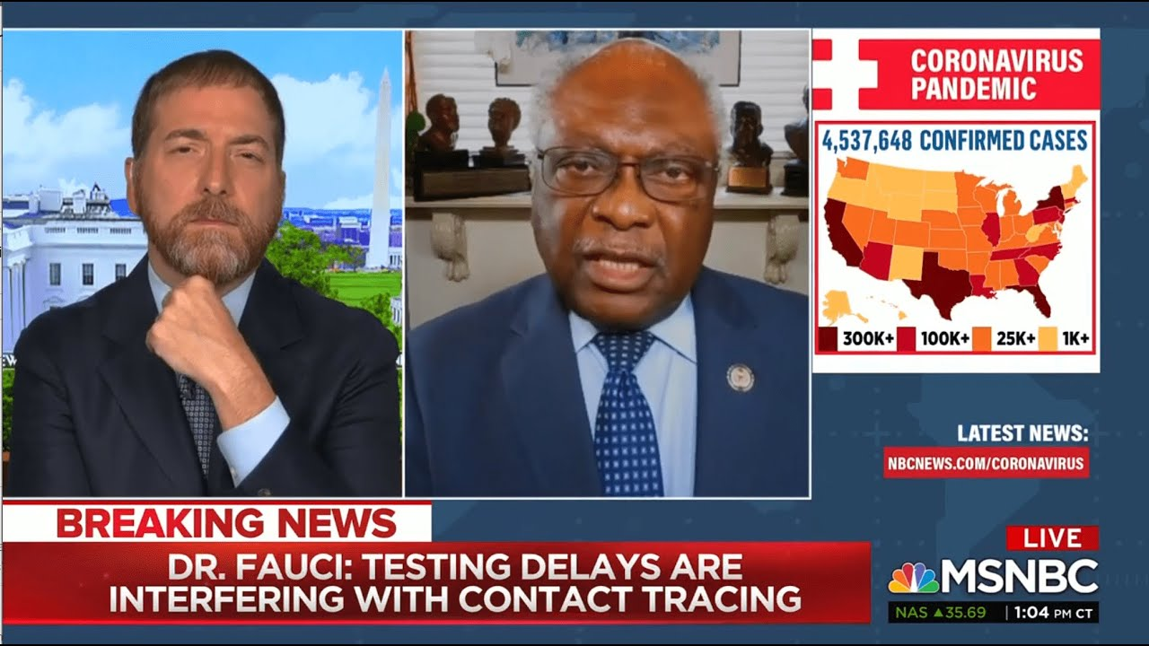 MSNBC with Chuck Todd: Chair Clyburn on Chairing Today's Fauci Hearing
