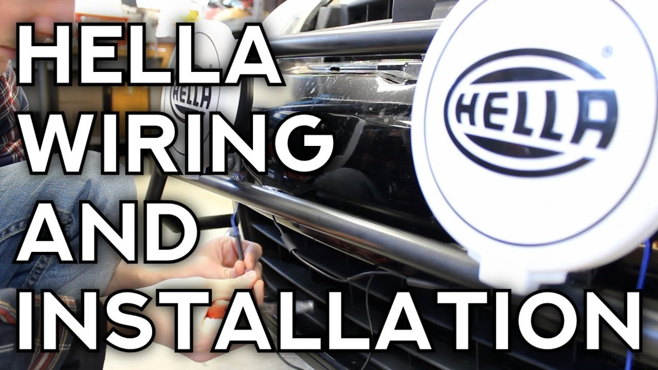how to install hella lights wiring and mounting  [ 1280 x 720 Pixel ]