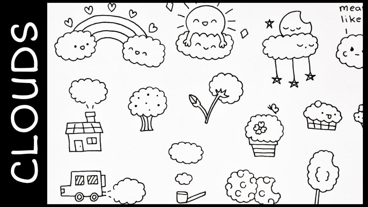 doodle cute doodles cloud doodling creative shape