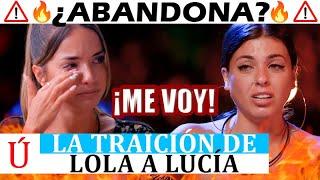 Lucía abandona! La traición de Lola al liarse con Carlos tras lo d Manuel La isla de las tentaciones