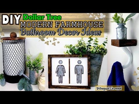 Dollar Tree DIY | Farmhouse Bathroom Decor | DIY Home Decor Ideas 2019