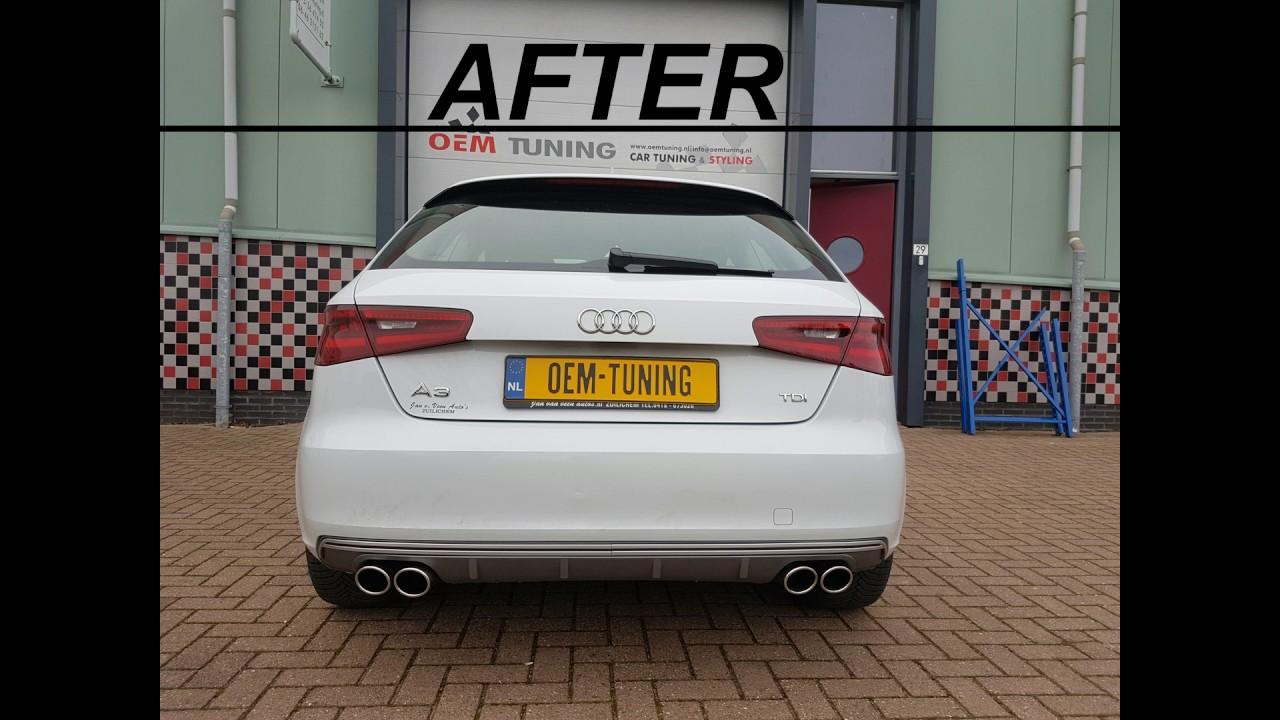 Audi S3 Diffuser - YouTube