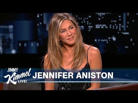 Jennifer Aniston Tosses Jimmy Kimmel's Salad