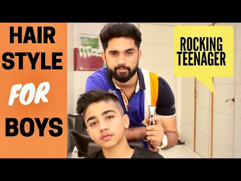 BEST HAIRSTYLE  FOR TEENAGE BOYS | SIDE SWEPT TAPER FADE |  BEST HAIRCUT 2018