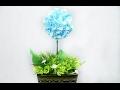 26.2: Làm hoa CẨM TÚ CẦU bằng giấy nhún - How to make Hydrangea (Hortensia) paper flower
