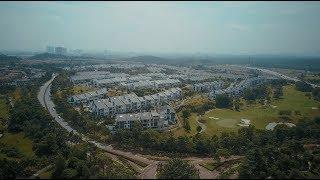 aerial shots of horizon hills legoland puteri harbour 2017 4k