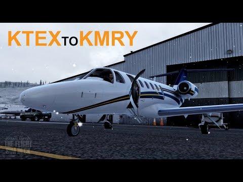 Prepar3D v4 | Snow Storm KTEX to KMRY | Carenado 525A Citation CJ2