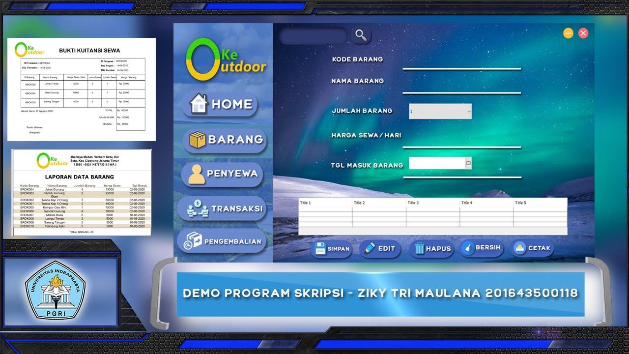 Demo Program Skripsi Ziky Tri Maulana 201643500118 Informatika Unindra Youtube