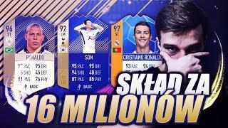 MÓJ NAJLEPSZY SKŁAD ZA 16 MILIONÓW COINSÓW! FIFA 18 ULTIMATE TEAM!