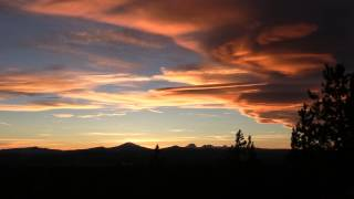Awesome Sunset Central Oregon Cascade Range July 20th 2014
