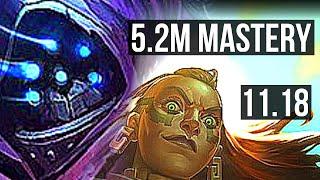 JAX vs ILLAOI (TOP)   5.2M mastery, 1800+ games, 4/1/3   NĄ Master   v11.18