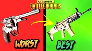 EVERY GUN IN PUBG RANKED WORST TO BEST! (UPDATED 2018) - PlayerUnknownsbattlegrounds