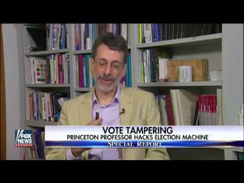 26996 Bibliothek governance 002 003 Fox News Professor demonstrates how to hack a voting machine