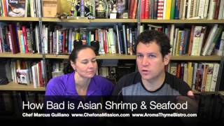 How Dirty is Farmed Asian Shrimp & Seafood