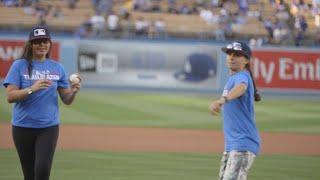 Trailblazer Series: First pitch at Dodger Stadium