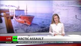 Arctic Assault: Greenpeace ship boarded after activists targeted Gazprom oil rig