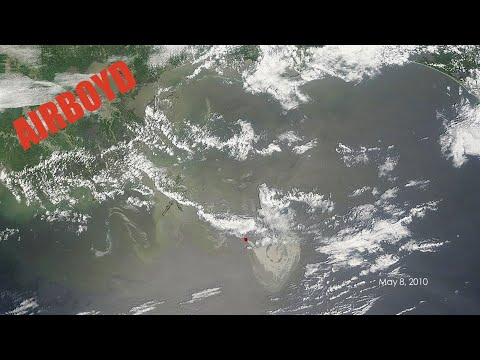 Oil Spill From Space April 20 - May 24 2010 Deepwater Horizon