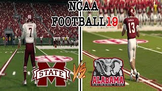 NCAA Football 19 #1 ALABAMA vs #16 MISSISSIPPI STATE NCAA 14 Updated Rosters