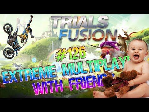 let's play TRIALS FUSION MULTIPLAYER #126 with CRAZY STONE GAMER GAMING CAVE AND FRIENDS