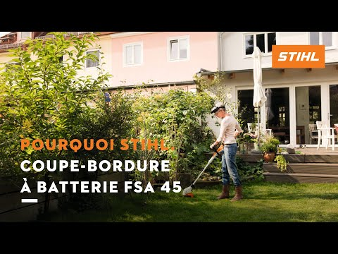 Coupe bordure batterie fsa 45 stihl youtube - Coupe bordure stihl batterie ...
