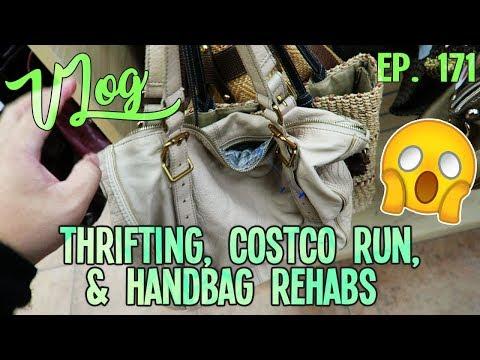 THRIFTING, COSTCO RUN, & HANDBAG REHABS   VLOG EP. 171