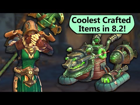 New Crafted Items in 8.2! Crafting Profession 8.2 Updates