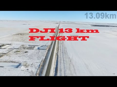 13km Dji Inspire 1 world record longest distance Long Range 1 way flight