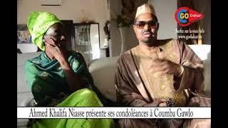 Ahmed khalifa Niasse présente ses condoléances à Coumba Gawlo