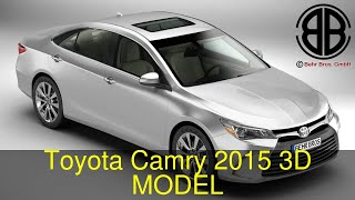 3D Model of Toyota Camry 2015 Review