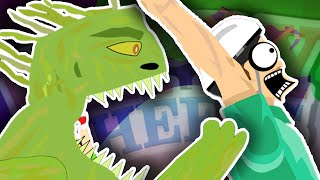 SWAMP MONSTER ATTACK!!  Happy Wheels