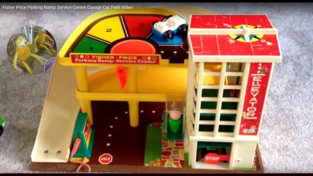 Garage Fisher Price : Vintage fisher price play family action garage car toy video youtube