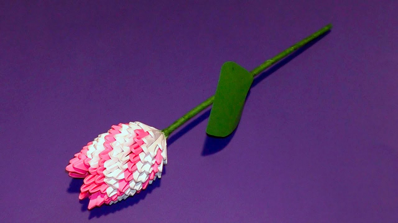 3D Origami Flower Tulip Tutorial Gifts For Mothers Day
