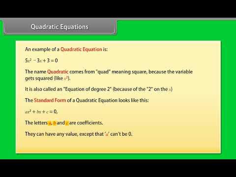 Mathematics | Quadratic Equations | ICSE Class 10th