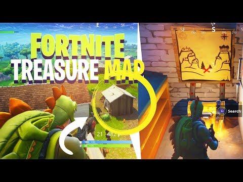 *NEW* SECRET TREASURE MAP IN SNOBBY SHORES! - Fortnite: Battle Royale