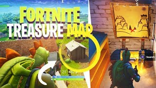 *NEW* SECRET TREASURE MAP IN SNOBBY SHORES! - Fortnite: Battle Royale
