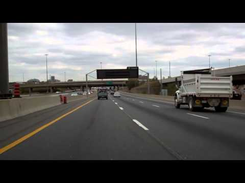 Test Footage of the World's Busiest Freeway:  Eastbound ON Hwy 401 thru Toronto (10/22/13)
