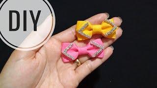 Diy || mini bow | grosgrain ribbon ...